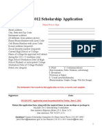 2012 SAAHJ Scholarship Application