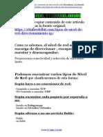 Tipos de Nivel de Red - Direccionamiento IP