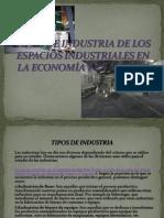 Tipos de Industria de Los Espacios ales en La Economia y en Mexico