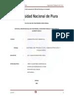 Empresa Agromar Industrial SA Sistema Administrativo y Finaciero Marketing