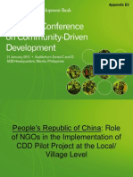 Appendix E3_Role of NGOs in the Implementation of CDD Pilot Project