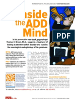 Inside the ADD Mind, by Dr. Thomas Brown