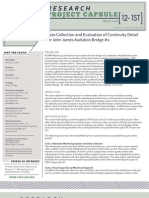LTRC Capsule 12-1ST Data Collection and Evaluation of Continuity Detail for John James Audubon Bridge #2