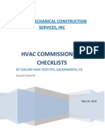 HVAC Commisioning Checklist