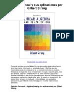 álgebra lineal y sus aplicaciones por gilbert strang - averigüe por qué me encanta!