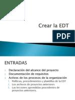 Crear La EDT
