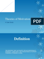 Theories of Motivation Abhishek Sinha