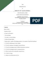 The Pneumatics of Heron of Alexandria