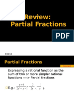 Review on Partial Fractions