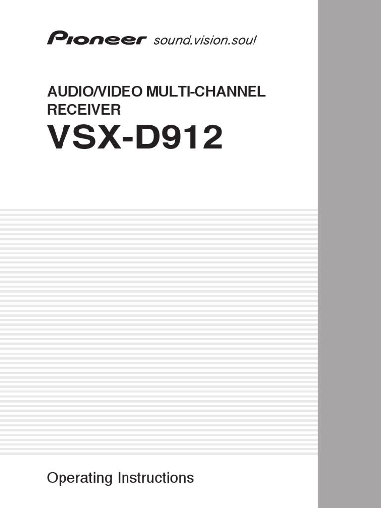 Pioneer Vsx D912 Specs Pioneer Vsx D912 Specs