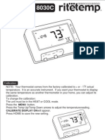 Ritetemp 8030C Thermostat Operation Guide
