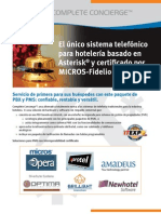 Xorcom Complete Concierge Brochure (Espanol)