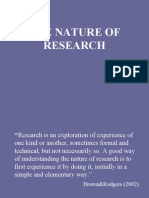1 the Nature of Research