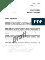 Draft AAC - Internal Audit