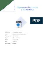 Business Statistics 2 .