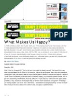 The Atlantic Magazine What Makes Us Happy