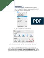 Adding Network Printers on Mac OS X