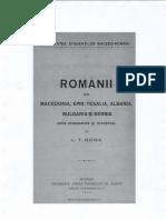 Românii din Macedonia, Epir, Tesalia, Albania, Bulgaria și Serbia _ L.T Boga