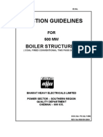 Erection Procedure for Boiler Structures