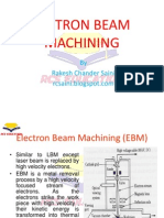 Electron Beam Machining(EBM)