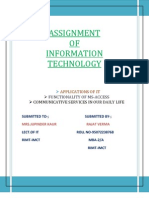 Assignment of It-rajat