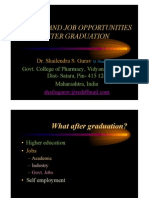 Dr. Shailendra Gurav- Carrerr and Job Opportunities After Graduation