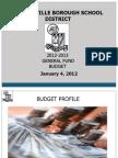 2012-13 Budget Presentation as of 1-4-12