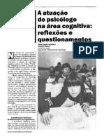 A atuação do psicólogo na área cognitiva- reflexões e questionamentos - Spinillo e Roazzi, 1989
