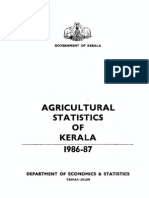 Agricultural Statistics of Kerala 1986-87