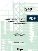 Analysis of HVDC Thyristor Converter Trafo Performance
