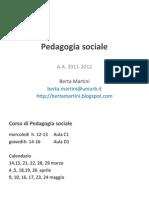 Pedagogia Sociale_introduzione Al Corso