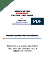 Cara Mencari Data Harga Saham Di Website Yahoo Finance