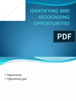 Identifying and Recognizing Opportunities