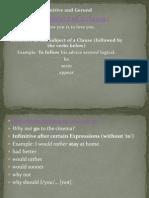 Gerund and Infinitive p.p