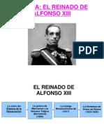 EL REINADO de ALFONSO XIII Para Cuarto de Diversificacion