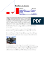 Brochure of Canada