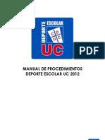 Manual de Procedimiento Deporte Escolar UC 2012