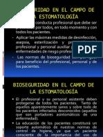 BIOSEGURIDAD EN EL CAMPO DE LA ESTOMATOLOGÍA