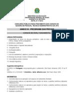 Anexo III Programas