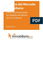 Informe-Mercado Inmobiliairo Febrero 2012