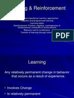 Learning & Reinforcement