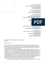 Lettera Ordine Architetti Roma 27ago2011
