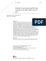 Poverty Alleviation and Biodiversity in the Niger Delta