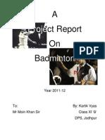 Project Badminton