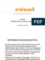 Intro to Sociolings 6 Final Review