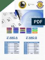 Calendário de Provas - 1° Bimestre - Ensino Fundamental