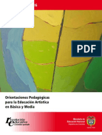 Orientaciones Pedagogic As en Educacion Artistica Men