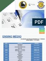Calendário de Provas 1° Bimestre - Ensino Médio
