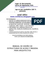 Manual de Diseño de Estructuras de acero y madera Para Arquitectura