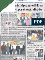 Registro de Candidatura Por El Sexto Distrito